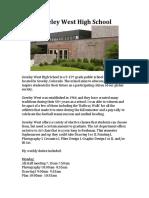 greeley west high school information