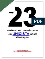 23 Razões do Porque Não Sou Um Unicista.pdf