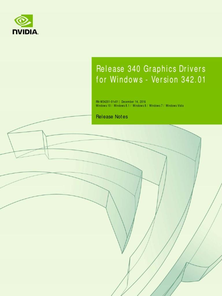 342 01 Win10 Win8 Win7 Winvista Desktop Release Notes