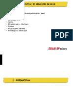 Lançamentos_Senai 1o. Semestre_2019