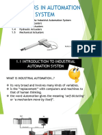 CHAPTER 1 - Actuators in Automation System