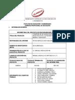 Formato Informe Final 2018 - I25