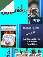 La Educacion en La Primera Republica Los Dos Primeros Gobiernos, Exposicion UASD Adelyinson Capellan