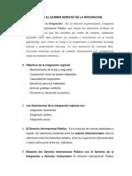 Tema Para El Examen Derecho de La Integracion