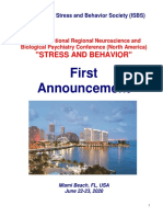 "Conference Announcement - 17th International Regional ""Stress and Behavior"" Neuroscience and Biopsychiatry Conference (North America), June 22-23, 2020, Miami Beach, FL, USA"