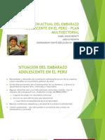 Situación Actual Del Embarazo Adolescente en El Perú – Plan Multisectorial Dra. Isabel Gomez