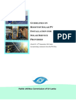 Guideline for Solar PV System Installation for ServiceProviders