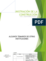 Temario de Administración de La Construcción