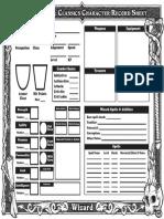 Wizard Sheet