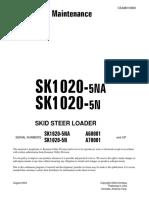 Operation & Maintenance Manual BOBCAT Mod. SK1020 - Www.oroscocat.com