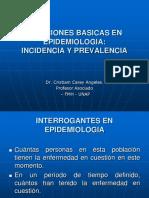 Clase de Epidemio Incidencia y Prevalencia
