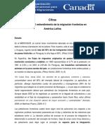 OIM Evolución en el entendimiento de la migración fronteriza en América Latina