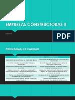 Empresas Constructoras II