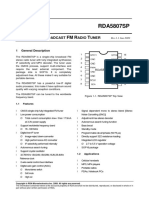 RDA5807SP SINGLE-CHIP BROADCAST FM RADIO TUNER.pdf