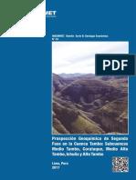 Boletin 43-B Prospección Geoquímica de Segunda Fase en La Cuenca Tambo