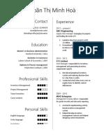 Simple Elegant CV Template
