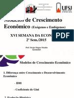 Modelos de Crescimento Economico Semana Da Economia(1)