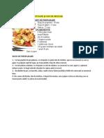 Salată de Pui Cu Crutoane Și Sos de Muștar