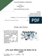 Desarrollo de Base de Datos en La Web