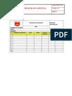 Lep-r-71125 Registro de Asistencia