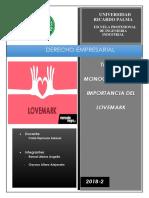 Avance Monografico de Importancia de Lovemark