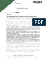 16-11-2018 Otorga Gobernadora Pavlovich certeza jurídica a 30 mil familias sonorenses