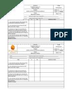 Formato de inspección de condiciones de trabajo