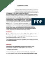 Conocimiento y Saber (Junior Lopez Villacorta)