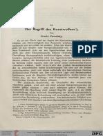 Panofsky, Der Begriff Des Kunstwollens