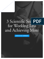 3 Scientific Secrets for Working Less and Achieving More