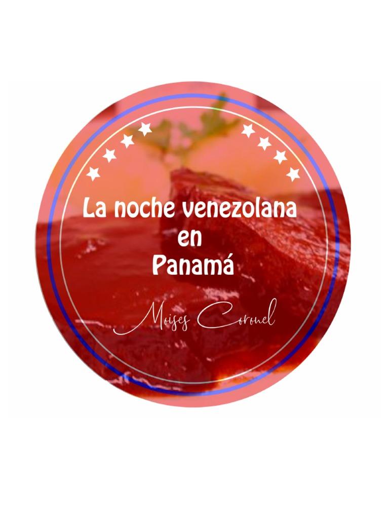 Menu de comida venezolana