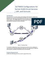 ESnet JUNOS TiMOS Configurations for OSCARS Ethernet VLAN Circuit ServicesISIS LDP VPLS v3
