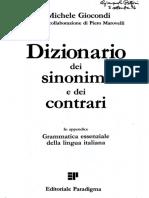 Libri - Grammatica Essenziale Della Lingua Italiana - Sinonimi e Contrari Di Michele Giocondi