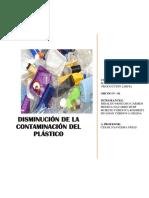 El Plastico (Importancia del cuidado del medio ambiente)