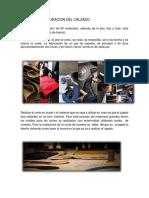 Proceso y Elaboracion Del Calzado
