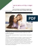 10 Consejos Que Le Daría a Mi Hija