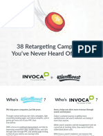 38 Retargeting Campaigns UPDATED