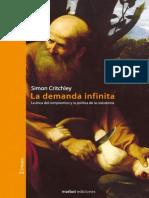 CRITCHLEY - La Demanda Infinita (Introducción y Cap I)
