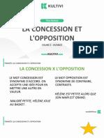 Aula2 - La Concession Et l'Opposition