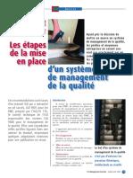 comment commencer les etapes de la mise en place d'un système de management de la qualité.pdf
