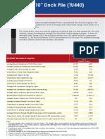 Dock Pile TU440 Data Sheet (CPM251-060216)