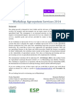 Call for Abstracts Agro Eco System Services Workshop 2014