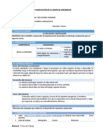 Planificación de La Sesión de Aprendizaje Pfrh