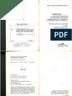 BANDEIRA de MELLO, Celso Antônio. Prestação de Serviços Públicos Pela Administração Indireta. Pp. 91 - 146