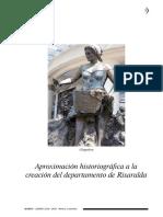 Aproximación Historiográfica a La Creación Del Departamento de Risarlada PDF