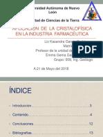 Aplicación de La Cristalofísica en La Industria Farmacéutica