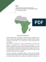 Trabalho de Historia África Subsaariana