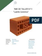 informe de laboratorio n° 11 ladrillo ceramico