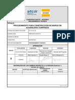 Construcción de Muros de Albañilería Confinada