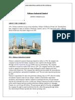 Reliance Industrial Report)